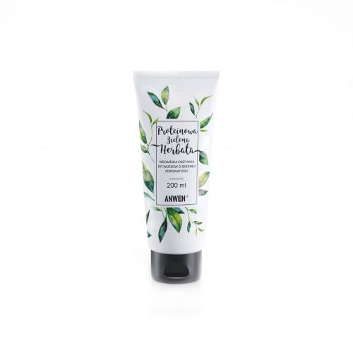 Anwen Odżywka do włosów o średniej i niskiej porowatości Proteinowa Zielona Herbata 200 ml