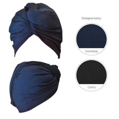 Anwen Turban Wrap It Up Granatowy