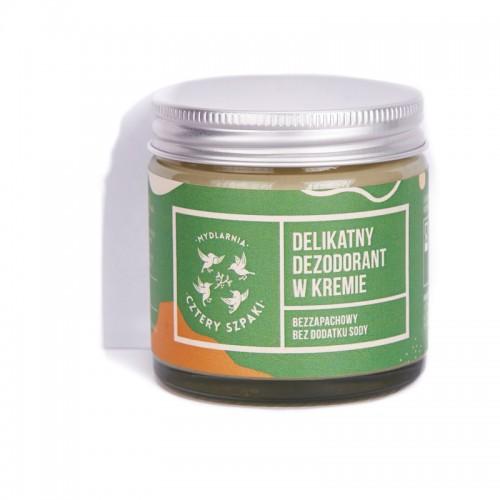 Mydlarnia Cztery Szpaki Delikatny Dezodorant w kremie Bezzapachowy bez dodatku sody 60ml