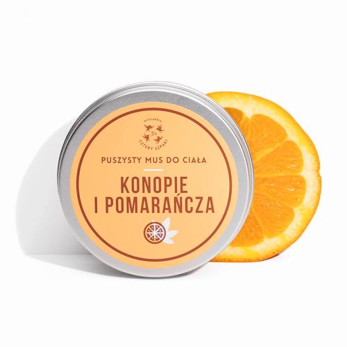 Mydlarnia Cztery Szpaki Mus do Ciała Konopie i Pomarańcza 150ml